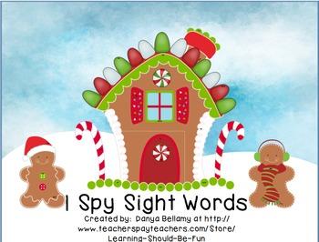 Winter & Christmas Themed - I Spy Sight Words