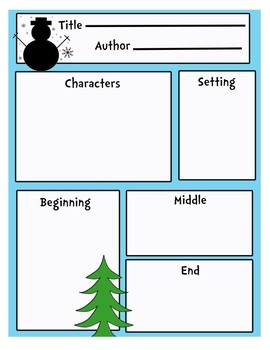 Winter/Christmas Themed Story Board