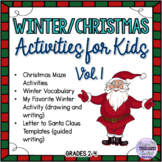 Winter/Christmas Time-filler Activities for Kids Vol. 1
