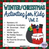 Winter/Christmas Time-filler Activities for Kids Vol. 2