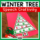 Winter Christmas Trees Speech Craft