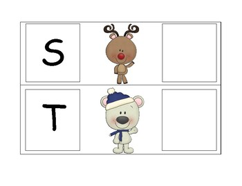 Winter/Christmas Uppercase and Lowercase Letter Match