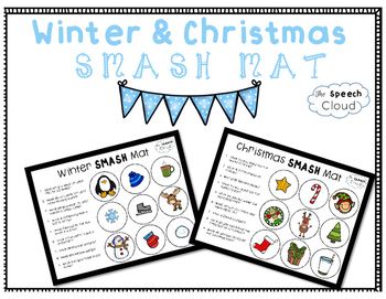 Winter & Christmas Wh- Questions Smash Mat