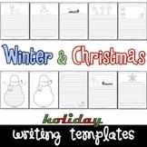 Winter Snowman & Christmas Seasonal Writing Paper Set