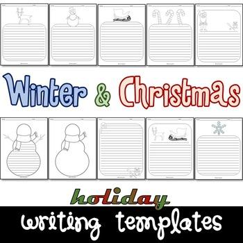 Winter & Christmas Writing Paper