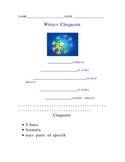 Winter Cinquain Poetry Form