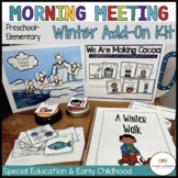 Winter Circle Time Activities for Preschool and Special Ed Includes Digital