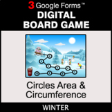 Winter: Circles Area & Circumference - Digital Board Game