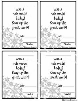 Winter Classroom Behavior Chart by Johnson Creations