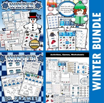 Winter Classroom Center Bundle