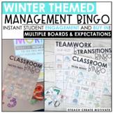 Distance Learning | Winter Classroom Management Bingo | Game | Plan | Digital