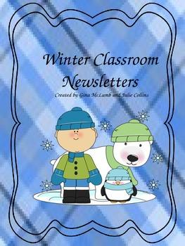 Winter Classroom Newsletters
