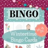 Winter Classroom Party Game - Winter Bingo Cards Not Holid