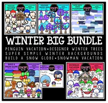 Winter Clip Art Big Bundle  {Educlips Clipart}