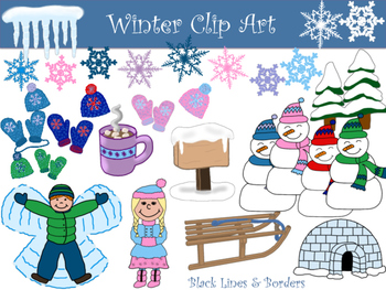 Winter Clip Art Collection