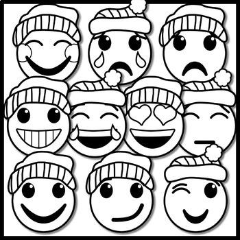 Winter Emoji Clip Art