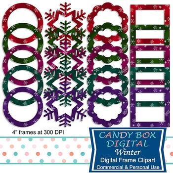 Winter Clip Art Frames