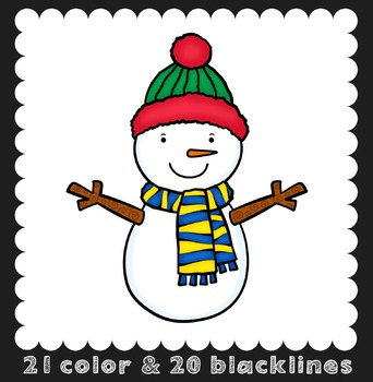 Winter Clip Art {Ink n Little Things Clip Art}