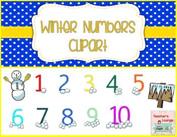 Winter Clip Art Numbers 0-10