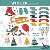 Winter Clip Art Pack - Commercial