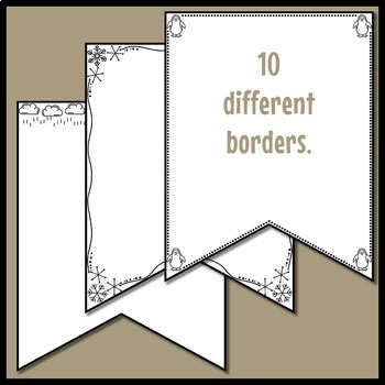 Winter Borders Clip Art