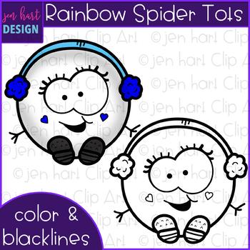 Winter Clip Art - Rainbow Snowball Tots {jen hart Clip Art}