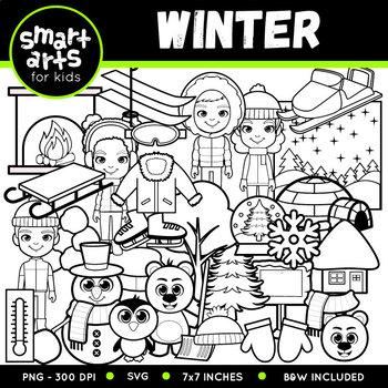 Winter Clipart Set - SVG Cut Files