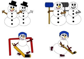 Winter Clip Art: Snowmen