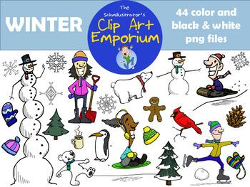 Winter Clip Art - The Schmillustrator's Clip Art Emporium