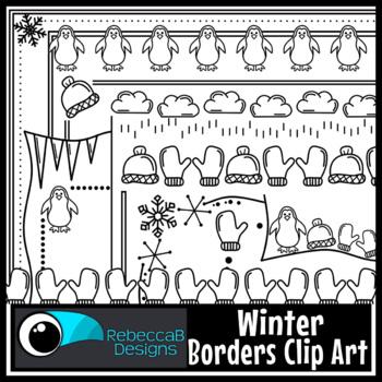 Winter Clip Art: Winter Borders, Winter Clip Art, Doodled