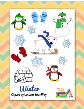 Winter Clip Art by Lessons Your Way
