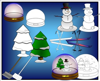 Winter Clip Art for Personal or Commercial Use