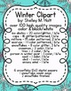 Winter Clip Art - ice skates, mittens, coats, snowflakes, and more