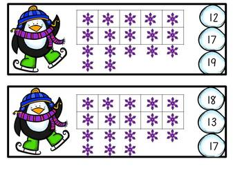 Winter Clip Cards 1-20