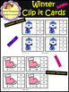 Winter Clip Cards - Addition-Subtraction-Telling time & more (School Designhcf)