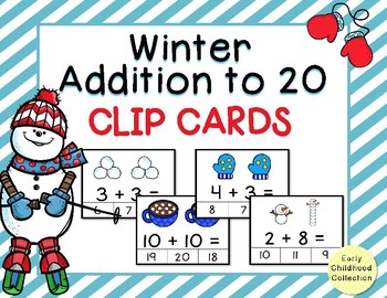 Winter Clip Cards - Addition to 20 {Task Cards}