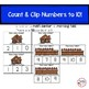 Winter Clip Cards Counting to 10- Kindergarten Math Center Activity