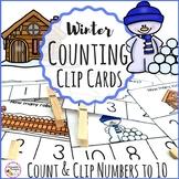 Winter Counting Clip Cards Kindergarten Math Center