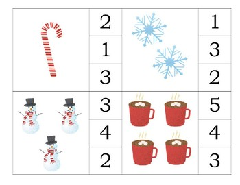 Winter Clip Cards Numbers 1-10