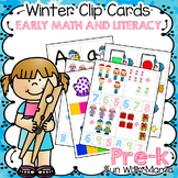 Winter Clip Cards PreK
