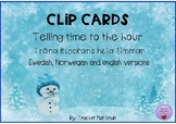 Winter Clip Cards Telling time to the hour