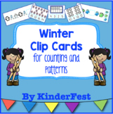 Winter Clip Cards for Counting and Patterns