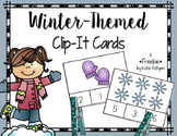 Winter Clip Cards for Numbers 1-10