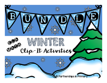 Winter Clip-it Bundled (ELA and Math activities)