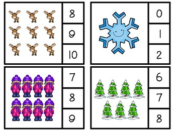 Winter Clip or Cover Counting Cards