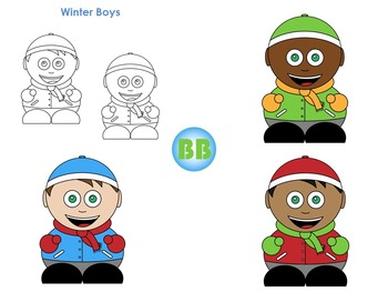 Winter Clipart: Bubble Buddies for Commercial and Personal Use