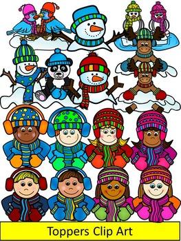 Winter Clipart- winter kids clipart