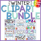 Winter Clipart Bundle   Shapes   Snow Friends