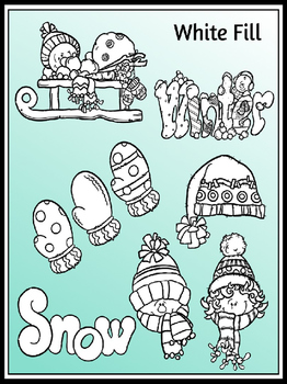 Winter Clipart (9 FREE Elements Included) Embellish Yourself Artworks