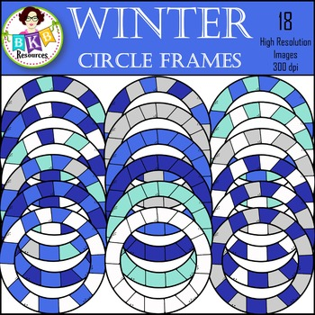 Winter Clipart ● Frames ● Graphics ● Products for TpT Sellers